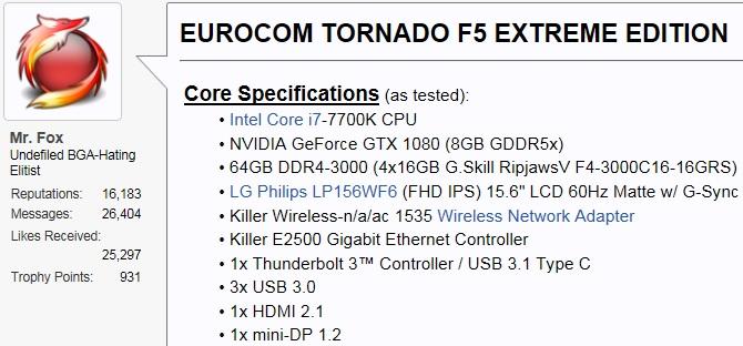 EUROCOM Tornado F5 Reviews